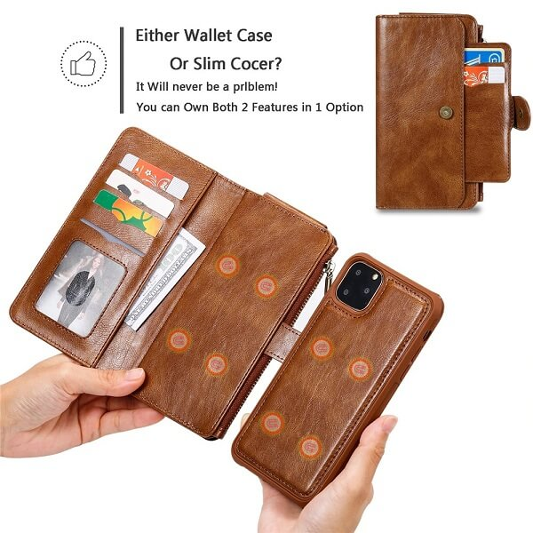 Either wallet phone case or slim cocer