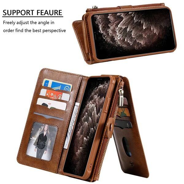 iPhone 12 Pro Magnetic Detachable Wallet Case