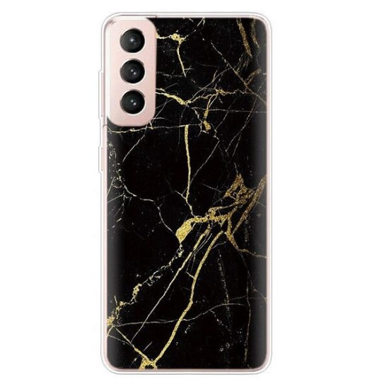 Black and gold Marble Samsung S21 case