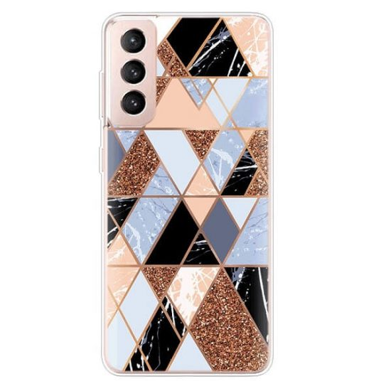 Geometric Shapes Marble Samsung Galaxy S21 Case