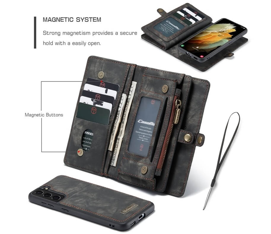 Magnetic Detachable Wallet Samsung Galaxy S21 Plus Case (3)