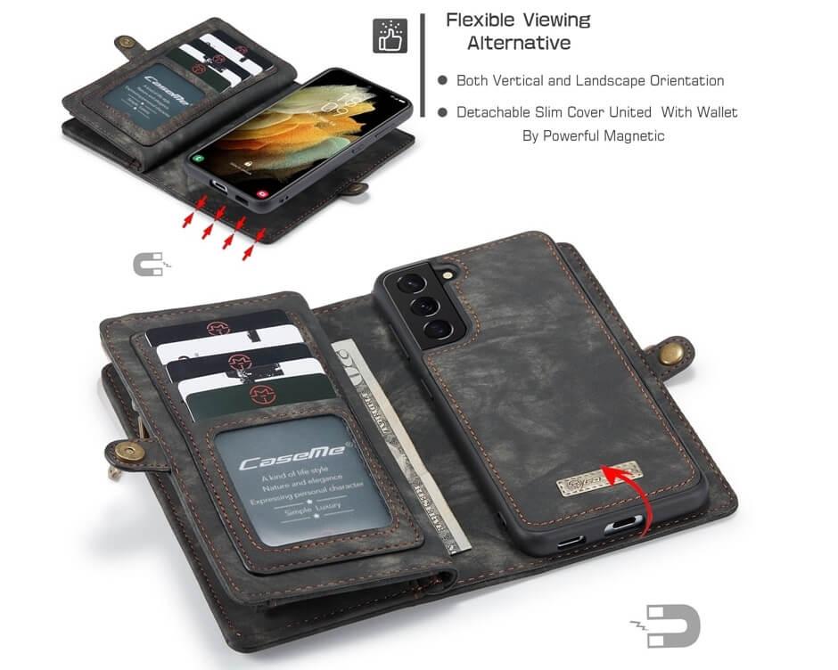 Magnetic Detachable Wallet Samsung Galaxy S21 Plus Case (4)