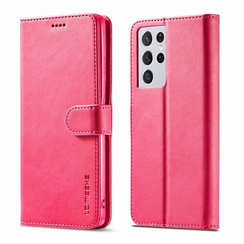 Rose Red Samsung Galaxy S21 Ultra 5G Leather Flip Wallet Case
