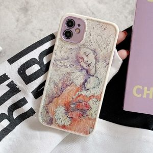 Abstract Art Figures iPhone Case