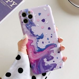 Art Abstract Purple Waves iPhone Case