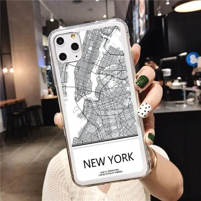 New York Map phone case