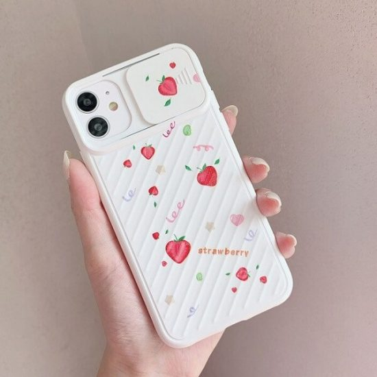Strawberries iPhone Case With Slide Camera Protection