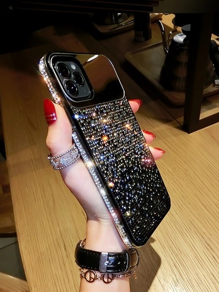 Crystal Jewelled iPhone Case With Mirror