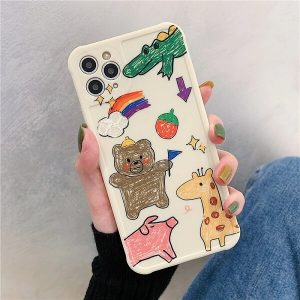 Hand Painted Bear iPhone Case