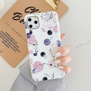 Stars And Planets Illustration iPhone Case
