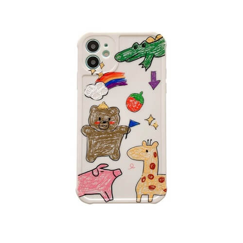 Watercolor Hand Painted Bear iPhone Case