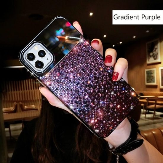 jewelled Purple iPhone case with mirror