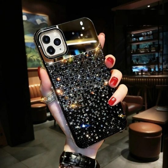 jewelled iPhone case with mirror