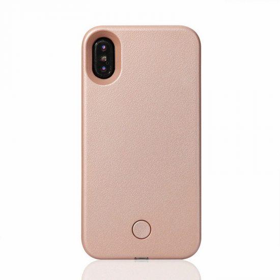 LED light phone case - Rose Gold