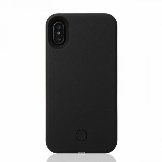 Selfie LED light iPhone case - Black