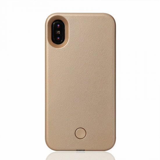 Selfie LED light phone case - Gold