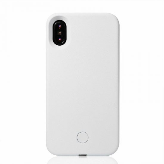 Selfie light iPhone case - white