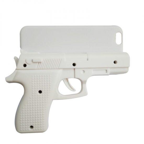 White Gun Shaped iPhone Case