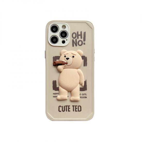 Beige Teddy Bear iPhone Case