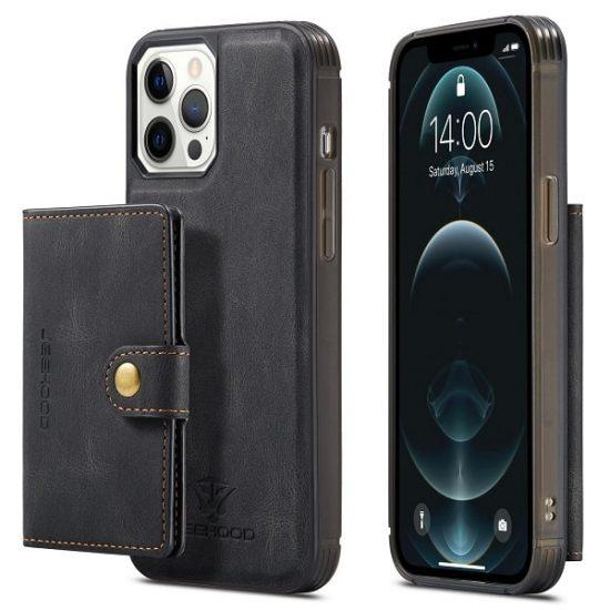 Black Detachable Wallet iPhone 13 Pro Case
