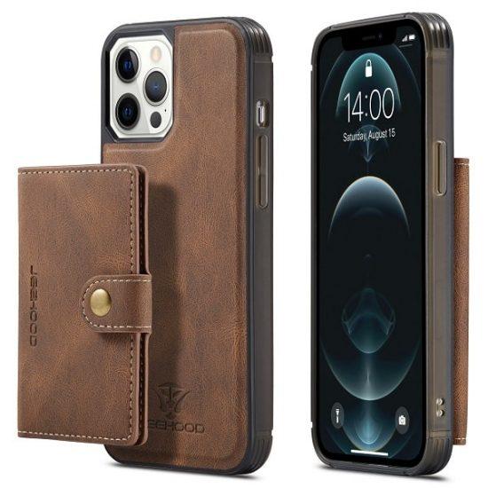 Brown Detachable Wallet iPhone 13 Series Case