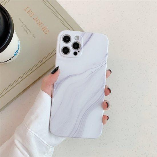 Calacatta White Marble iPhone Case