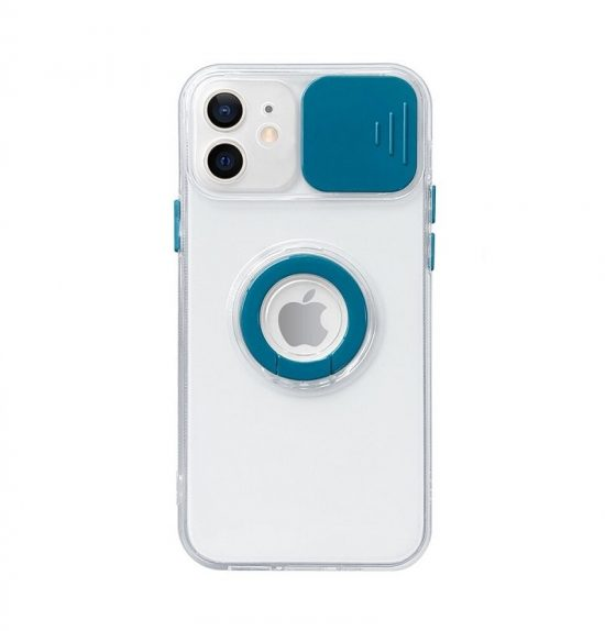 Green Slide Camera Lens Protection iPhone 13 Pro Max Case