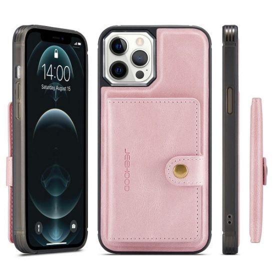 Pink Detachable Wallet iPhone 13 Series Case