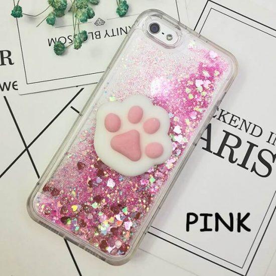 Pink Glitter Squishy Cat iPhone Case