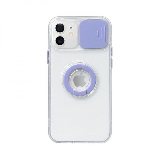 Purple Slide Camera Lens Protection iPhone 12 Pro Max Case