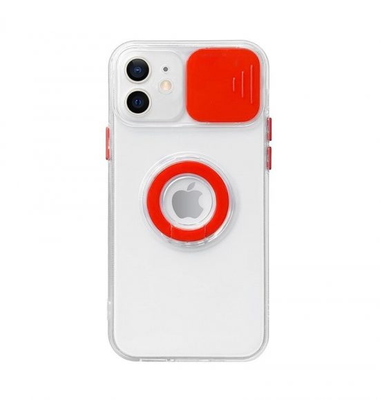 RED Slide Camera Lens Protection iPhone 12 Pro Max Case