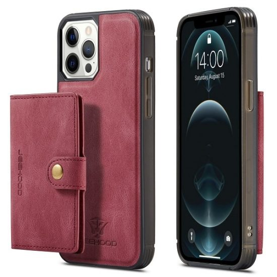 Red Magnetic Detachable Wallet iPhone 13 Case