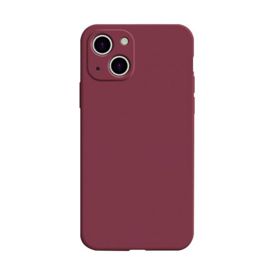 Square Candy Color Liquid Silicone iPhone 13 Case