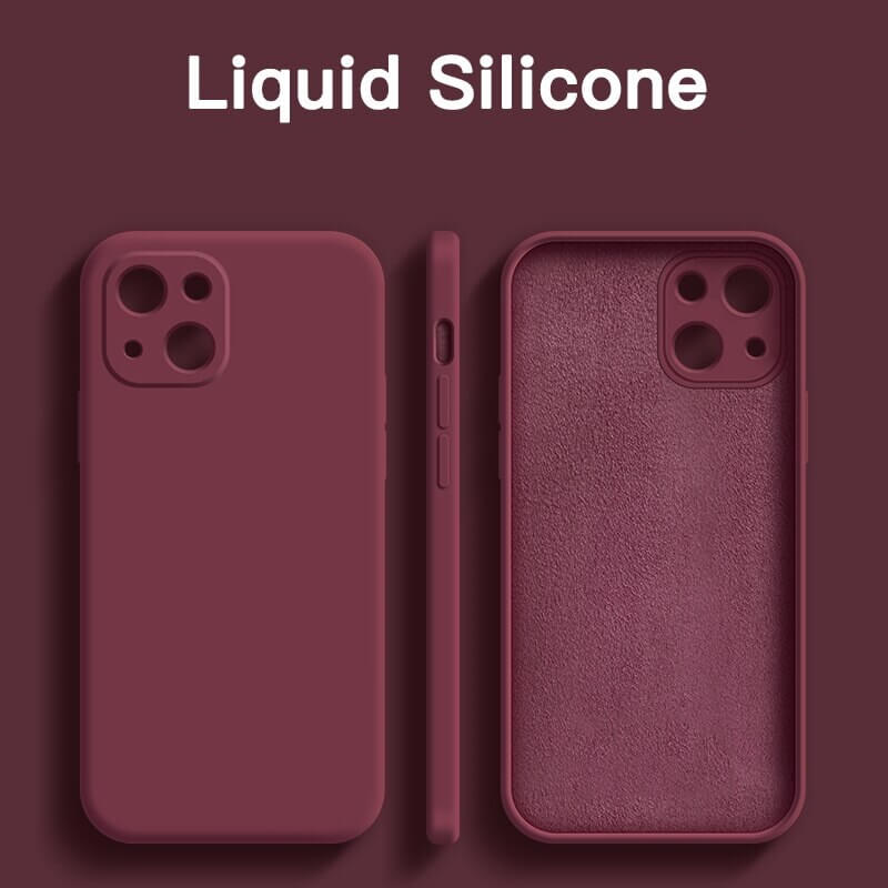 Square Candy Color Silicone iPhone 13 Phone Case