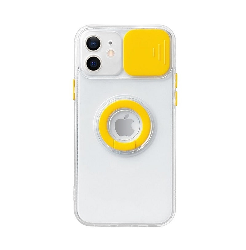Yellow Slide Camera Lens Protection iPhone 13 Pro Max Case