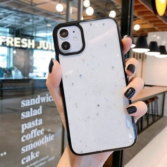 Black Shockproof Star Glitter iPhone 13 Pro Case