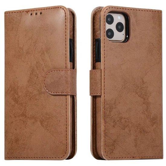 Brown Magnetic Detachable Wallet iPhone 13 Case