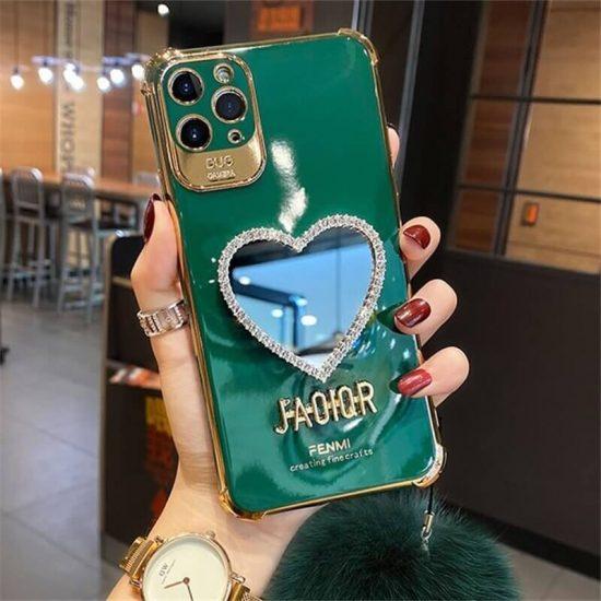 Dark Green Mirror case with Hairball