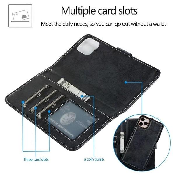 Magnetic Detachable Wallet iPhone 13 Case