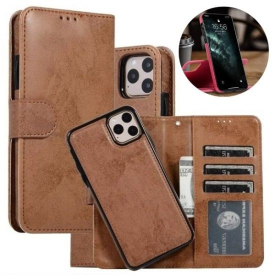 Magnetic Detachable Wallet iPhone 13 Pro Case Cover With Card Holder