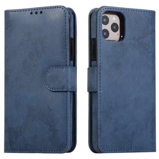 Navy Magnetic Detachable Wallet iPhone 13 Pro Case