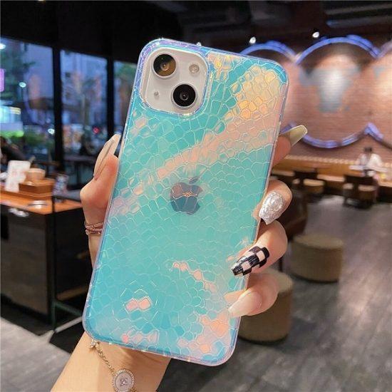 Serpentine Rainbow Gradient Laser iPhone 13 Case