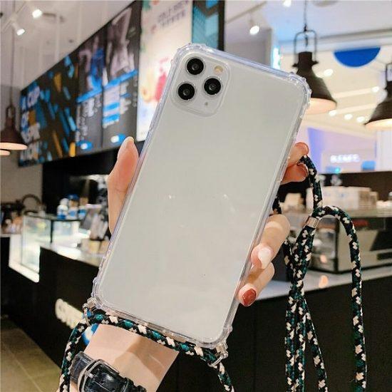 Transparent Crossbody iPhone 13 Case - Camo