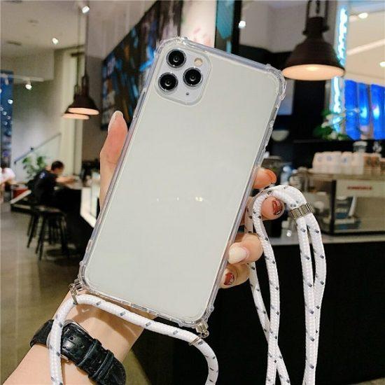 Transparent Crossbody iPhone 13 Case - Sea Color