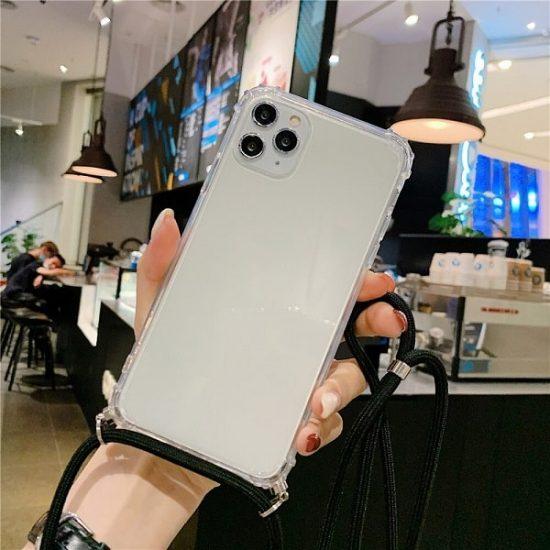 Transparent Crossbody iPhone 13 Pro Case - Black