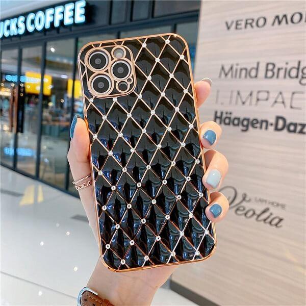 Black Jeweled Diamond iPhone Case
