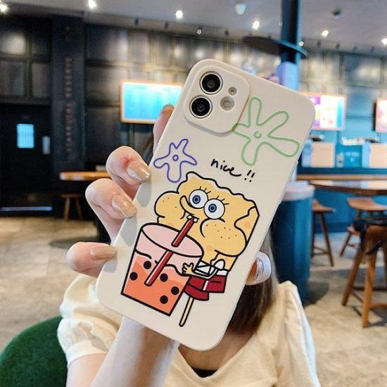 Cartoon Anime SpongeBob SquarePants iPhone Case