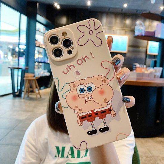 Cartoon SpongeBob SquarePants iPhone Case