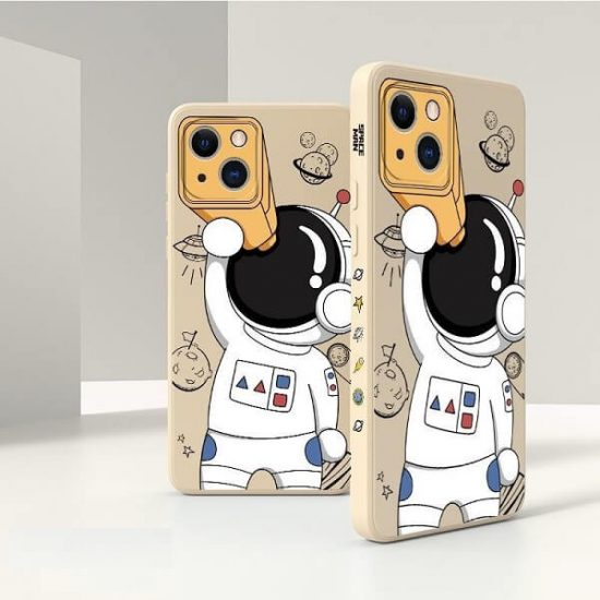 Khaki Spaceman Astronaut iPhone 13 Pro Max Case