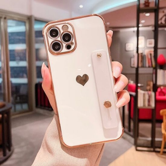 Love Heart iPhone Case With Hand Strap Holder